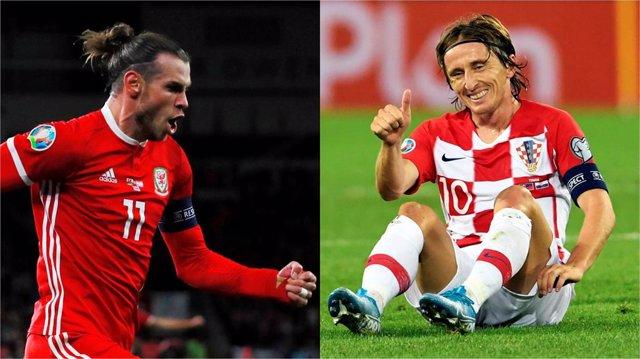 Gareth Bale y Luka Modric con sus selecciones