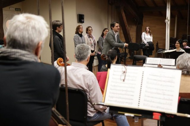 José María Bellido en uno de los ensayos de la Orquesta de Córdoba