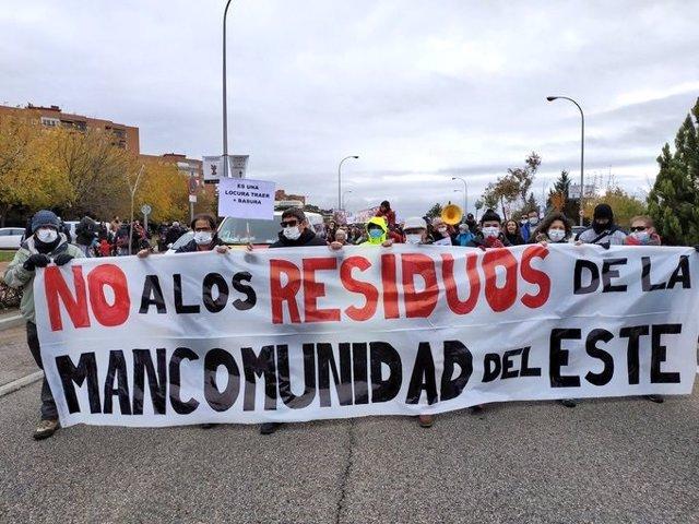 Recurso de la manifestación contra el vertido de más residuos en Valdemingómez.