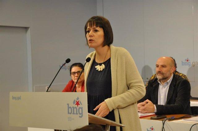 La portavoz nacional del BNG, Ana Pontón, en el Consello Nacional del partido