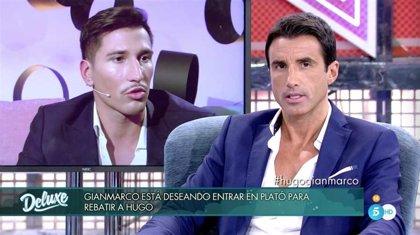 Hugo Sierra y Gianmarco, en el plató del 'Deluxe' al más puro estilo 'Dos hombre y un mismo destino'