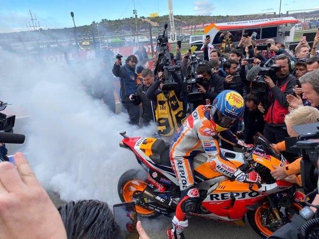 Jorge Lorenzo després de la seva última carrera de MotoGP