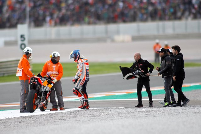 Jorge Lorenzo, rider of Repsol Honda Team from Spain, retires of the World Championship in his last Race in the Valencia Grand Prix of MotoGP World Championship celebrated at Circuit Ricardo Tormo on November 16, 2019, in Cheste, Spain.