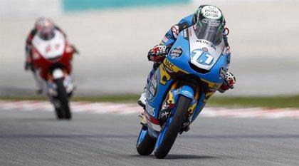 Sergio García Dols se estrena en una accidentada última carrera de Moto3
