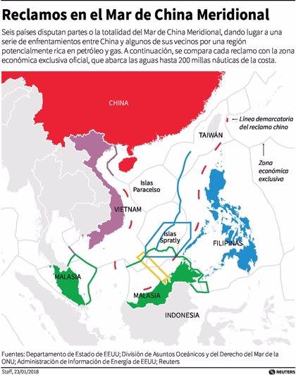 "China pide a EEUU que ""pare de alardear"" en el mar de China Meridional"