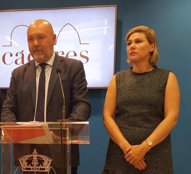 Francisco Alcántara y Raquel Preciados, concejales de Cs en Cáceres