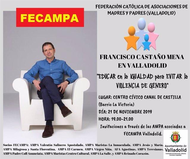 Cartel de la conferencia de Francisco Castaño Mena.