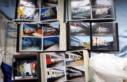 Detenido un grupo de grafiteros por daños en más de 2.000 trenes, algunos en Asturias