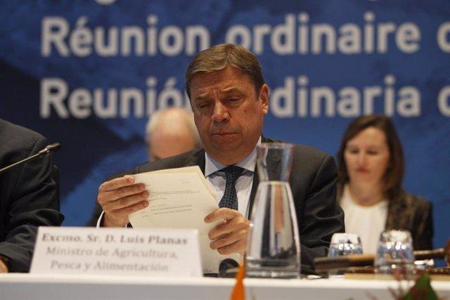 EI ministro de Agricultura, Pesca y Alimentación en funciones, Luis Planas,  durante la inauguración de la XXVI Reunión de la Comisión Internacional para la Conservación del Atún Atlántico (Iccat), en Palma de Mallorca