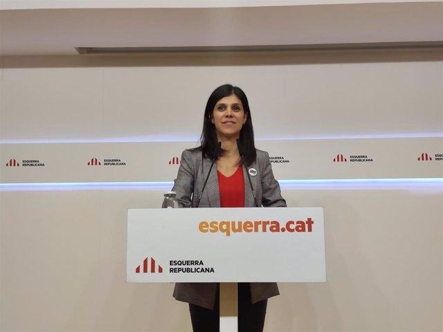 La portaveu d'ERC, Marta Vilalta