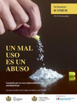 El Colegio de Médicos de Madrid alerta sobre el mal uso de los antibióticos, que provoca 3.000 muertes al año en España