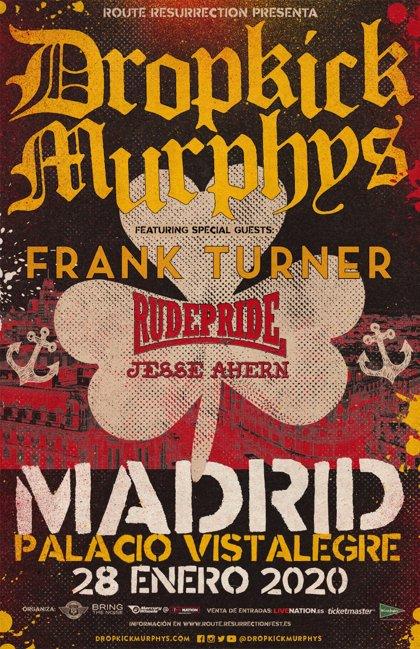 Dropkick Murphys anuncian concierto en el Palacio Vistalegre de Madrid