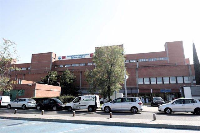 Edificio del Hospital Universitario Severo Ochoa, en Leganés (Madrid), a 7 de octubre de 2019.