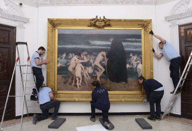 La obra ¡Triste Herencia! de Joaquín Sorolla vuelve a la Fundación Bancaja tras su exposición en Londres y Dublín