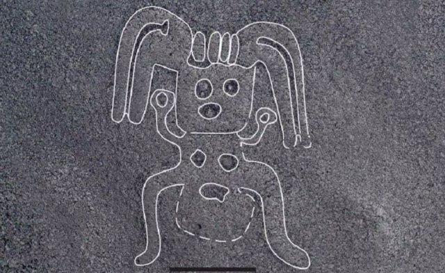 Misteriosas figuras humanoides, reveladas en las Líneas de Nazca