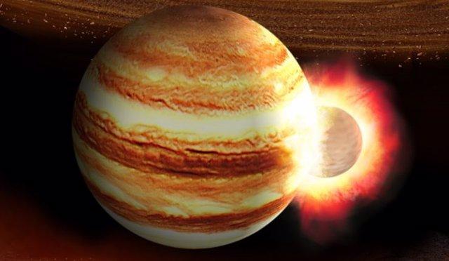 Impactos entre planetas explican mundos gigantes en órbita excéntrica