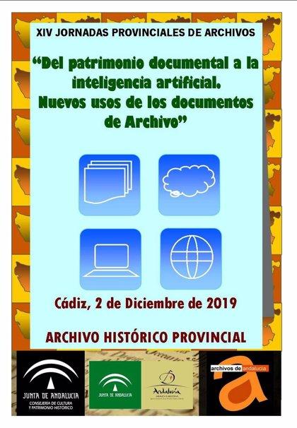 La XIV Jornada de Archiveros de la provincia se celebrará el próximo 2 de diciembre en el Archivo de Cádiz