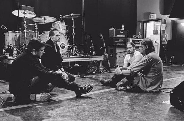 Foto de My Chemical Romance en el local de ensayo