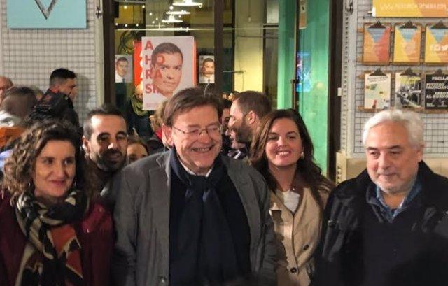 Ximo Puig en la noche electoral del 10N