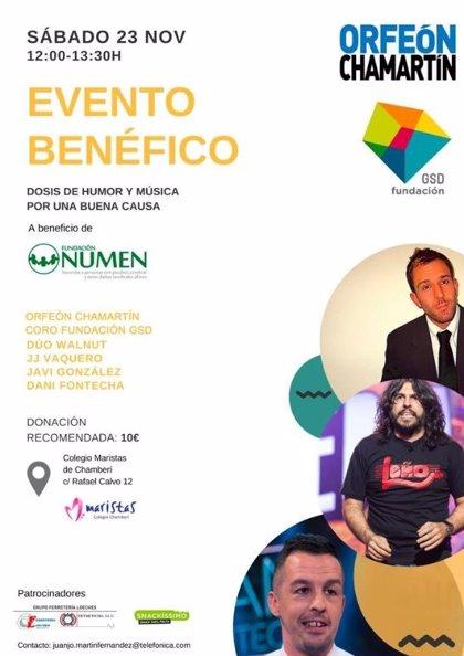 Música y humor en Madrid a beneficio de la Fundación NUMEN