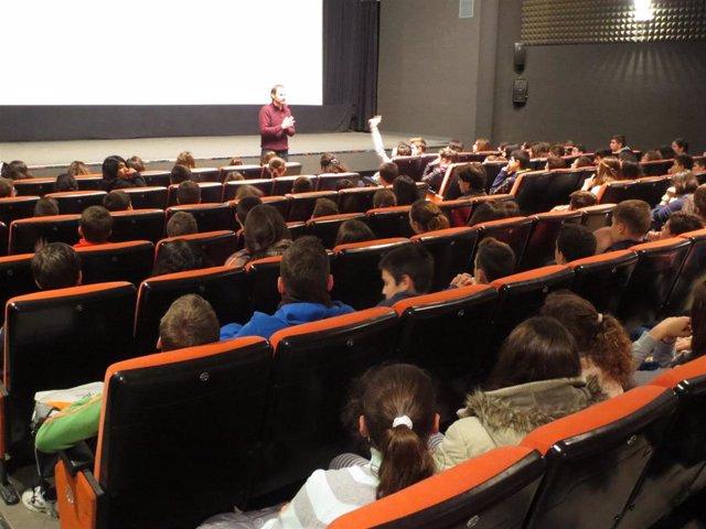 Una de las sesiones de la Filmota en una foto de archivo