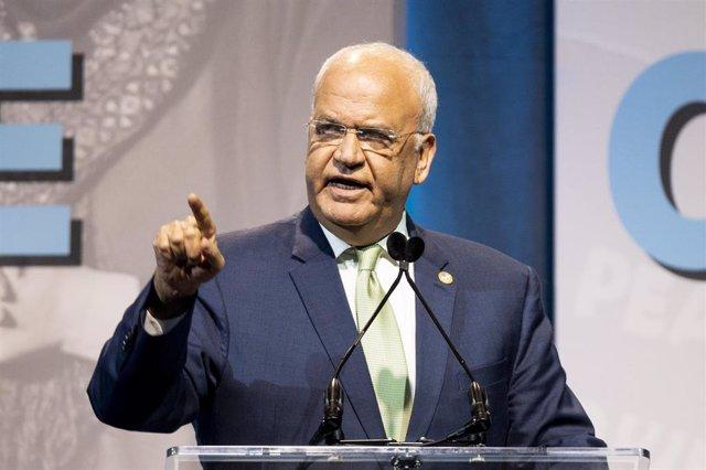 El secretario general de la Organización para la Liberación de Palestina, Saeb Erekat