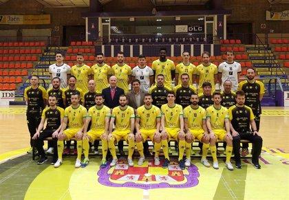Reyes participa en la foto oficial del Jaén Paraíso Interior Fútbol Sala