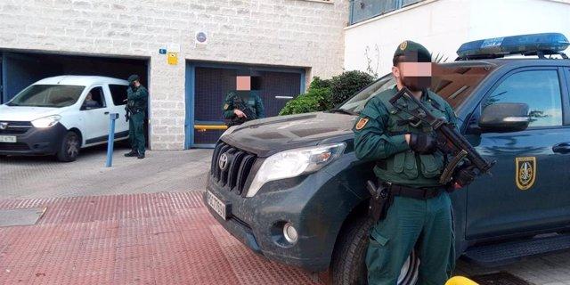 Operativo de la Guardia Civil en Málaga contra el tráfico de drogas