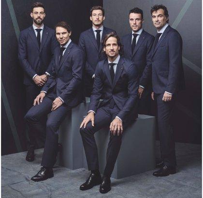 Nadal, Bautista, Bruguera y el resto del equipo español se visten de Emidio Tucci en la Copa Davis