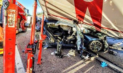 Un accidente múltiple en la A7 en Paterna se salda con seis heridos y 17 kilómetros de retención
