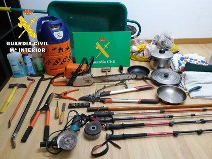 Detenido por seis robos con fuerza en el Valle de Mena, en la provincia de Burgos