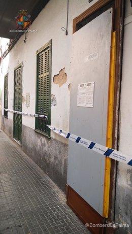 Desalojan dos edificios en Pere Garau por peligro de derrumbe