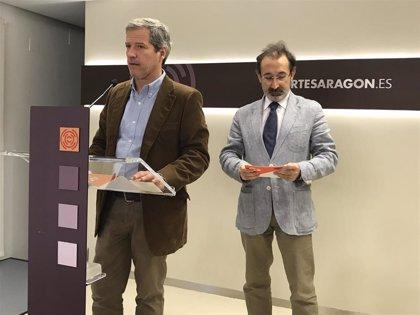 """Pérez (Cs) reconoce a la """"coalición de supervivencia"""" de Lambán su capaz para presentar ahora los Presupuestos"""
