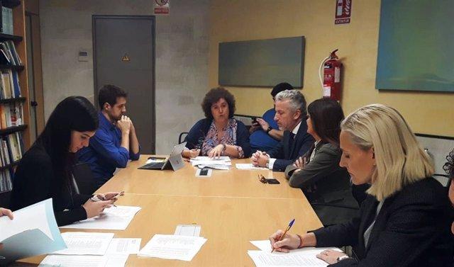 La regidora de Turismo Sanidad y Consumo del Ayuntamiento de Palma, Elena Navarro, en la comparecencia previa a la aprobación inicial del Presupuesto de Cort para 2020.