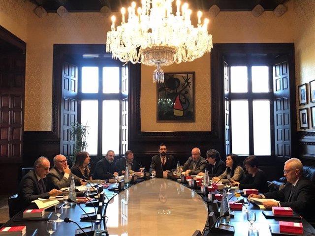 Mesa del Parlament el 19 de novembre de 2019