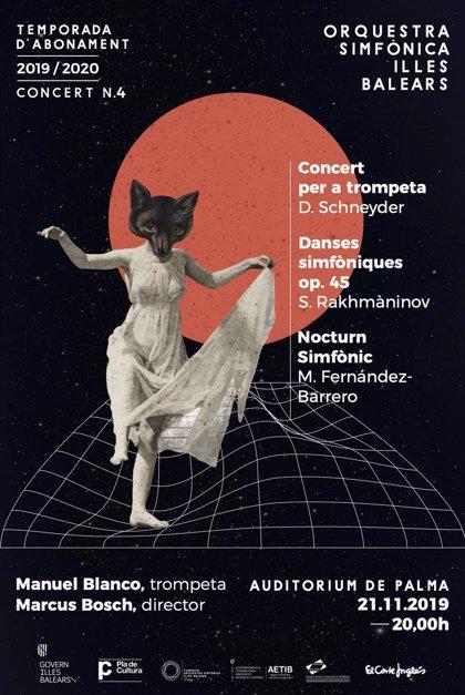 El trompetista solista Manuel Blanco protagonizará el concierto de la Sinfónica de Baleares el próximo jueves en Palma