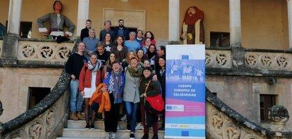 Baleares recibe a una decena de voluntarios del Cuerpo Europeo de Solidaridad