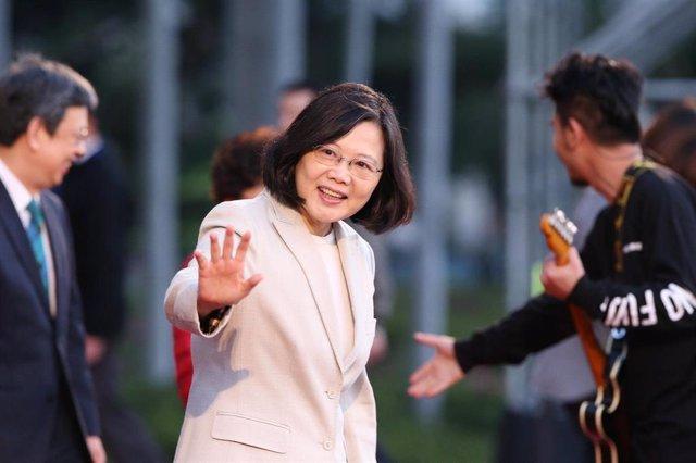 La presidenta de Taiwán, Tsai Ing Wen, en un viaje oficial por Centroamérica