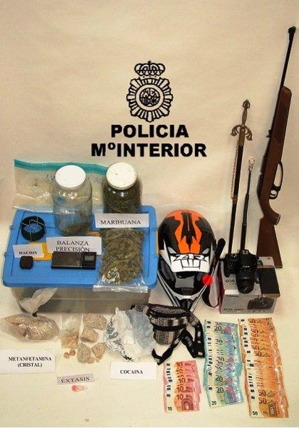 Dos detenidos en Soria por posesión de marihuana, hachís, cocaína y otras drogas por valor de 42.000 euros