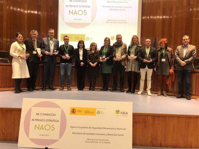 Entrega de los XII Premios Estrategia NAOS