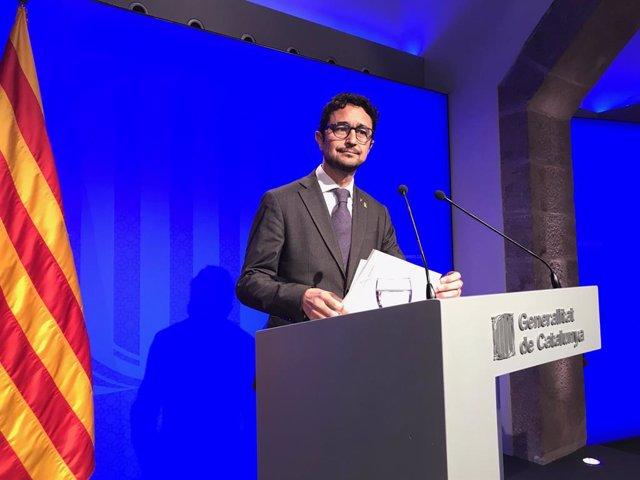 El conseller de Territori i Sostenibilitat de la Generalitat, Damià Calvet.