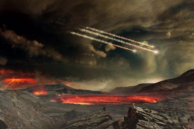 Bombardeo de meteoritos en la Tierra antigua