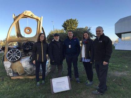 La planta del Grupo PSA en Figueruelas (Zaragoza) convierte su residuos en arte