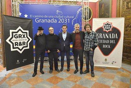 Miguel Ríos y los fundadores de la Sala Planta Baja reciben mañana las Púas de Plata 2019 del Ayuntamiento de Granada