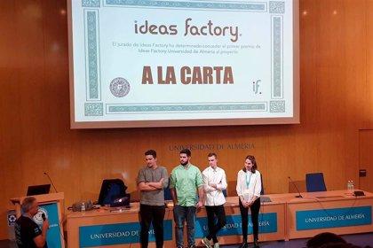 Una 'app' de mejora de experiencia de clientes en restaurantes gana el Ideas Factory de la UAL