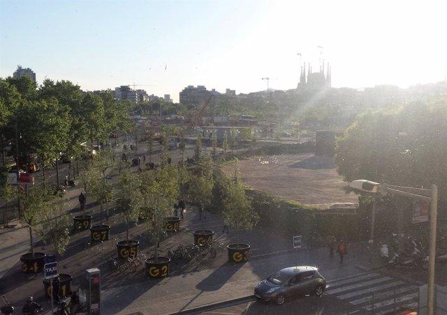 Obres de la plaça Glòries de Barcelona