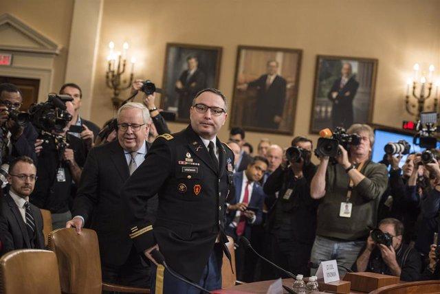 Alexander Vindman comparece en el Congreso