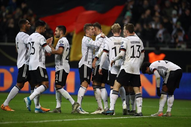La selección de Alemania en la victoria ante Irlanda del Norte