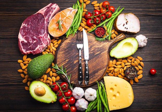 Grasas, comida, alimentación, dieta keto