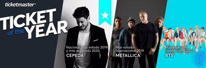 Metallica y Cepeda, los mejores eventos de 2019 según los usuarios españoles de Ticketmaster